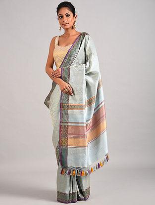 Blue Handwoven Benarasi Katan Silk Saree