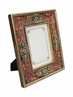 Multicolor Handmade Wooden Photo Frame (11in x 9.1in)