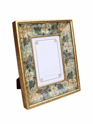 Aqua Multicolored Handmade Wooden Photo Frame (11in x 9.1in)