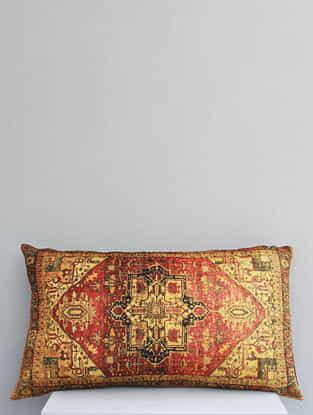 Rooga Multicolored Handmade Velvet Cushion Cover (12in x 20in)