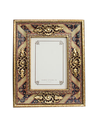 Amrapali Gold-Multicolor Handcrafted Wood Picture Frame (9in x 11in)