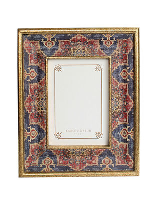 Harbour Blue-Multicolor Handcrafted Wood Picture Frame (9in x 11in)