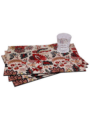 Raas Multicolor Handcrafted Wood Placemats (Set of 6) (18in x 12in)