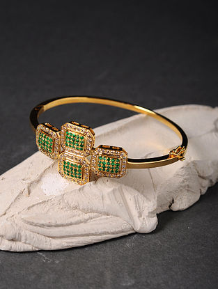 Emerald and Diamond Gold Bracelet