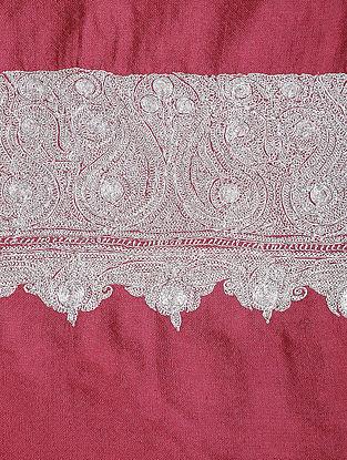 Pink Tilla-embroidered Pashmina/Cashmere Shawl