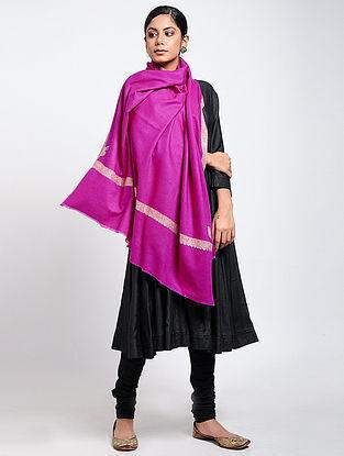 Pink Sozni-embroidered Pashmina Shawl