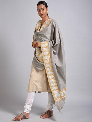 Grey Tilla Embroidered Pashmina Shawl