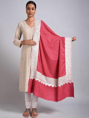 Pink Tilla Embroidered Pashmina Shawl