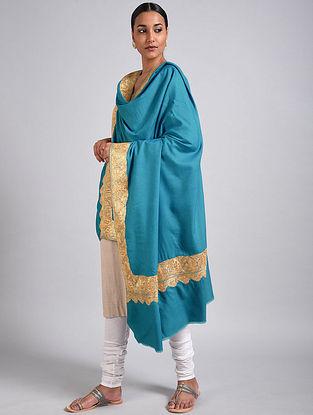 Blue Tilla Embroidered Pashmina Shawl