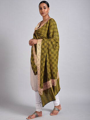 Green Tilla Embroidered Pashmina Shawl