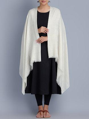 Ivory Pashmina Handwoven Shawl by Pashme Ladakh