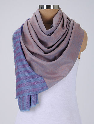 Pink-Blue Pashmina/Cashmere Stole