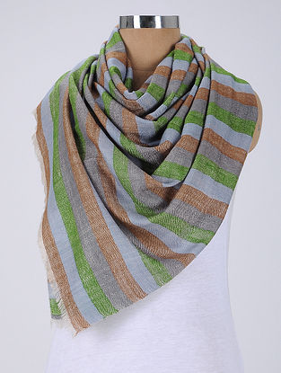 Green-Grey Pashmina/Cashmere Stole