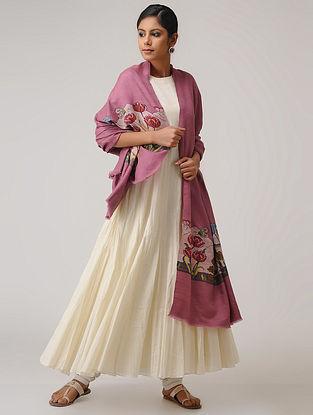 Pink-Green Pashmina/Cashmere Kani Shawl