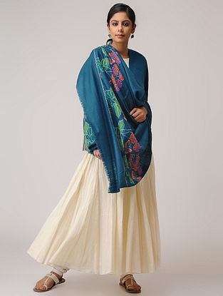 Blue-Pink Kani Pashmina/Cashmere Shawl