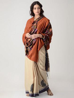 Brown-Green Kani Paldar Pashmina/Cashmere Shawl