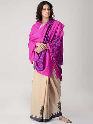 Pink-Purple Kani Pashmina/Cashmere Shawl