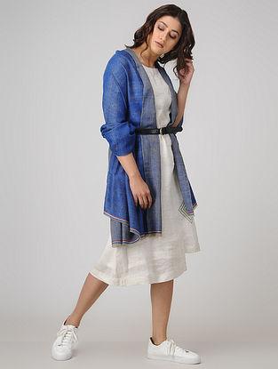 Blue Pashmina Cashmere Reversible Shawl
