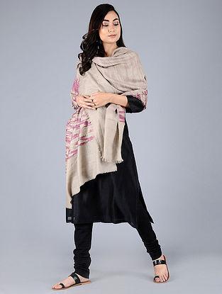 Beige-Pink Pashmina Pelt shawl