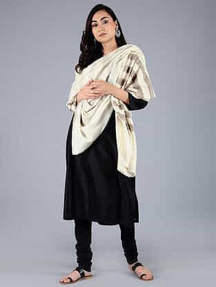 Ivory Pashmina Pelt shawl