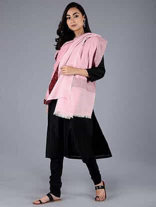 Pink-Red Pashmina Pelt shawl
