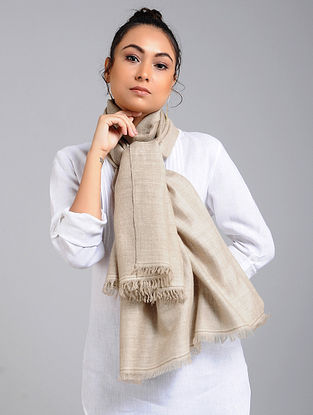 Grey Handwoven Pashmina Reversible Stole