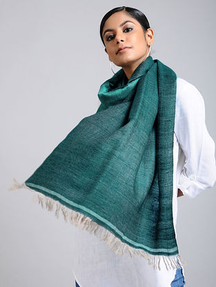 Green Handwoven Pashmina Reversible Stole