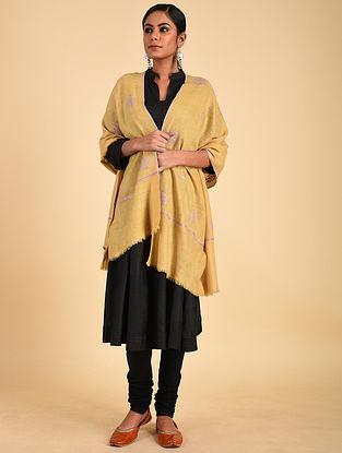 Yellow Sozni Embroidered Pashmina Stole