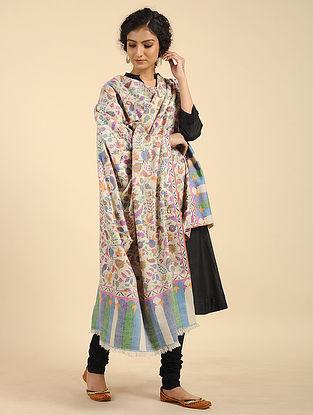 Multicolored Handcrafted Kani Pashmina Cashmere Shawl