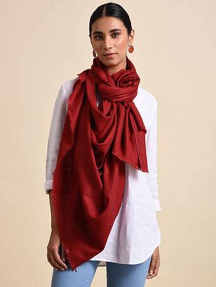 Red Handwoven Pashmina Shawl