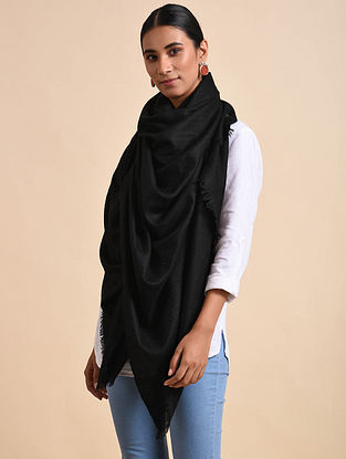 Black Handwoven Pashmina Shawl