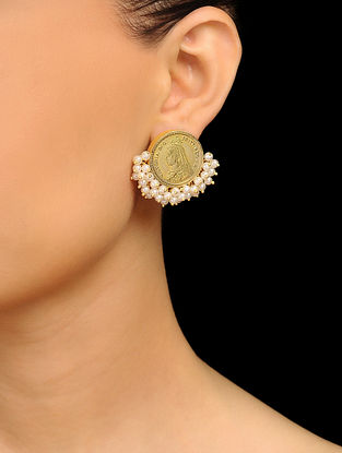 Gold Tone Brass Earrings