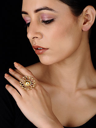 Classic Gold Tone Brass Ring
