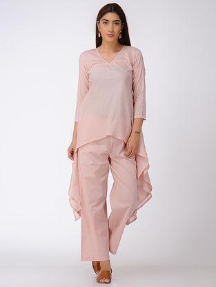 Pink Asymmetrical Cotton Top