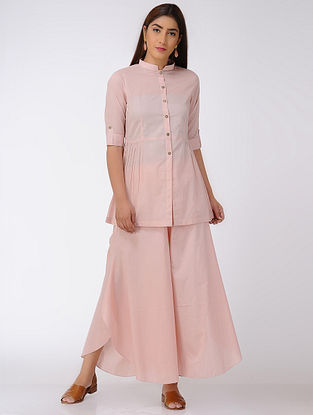 Pink Pleated Cotton Top