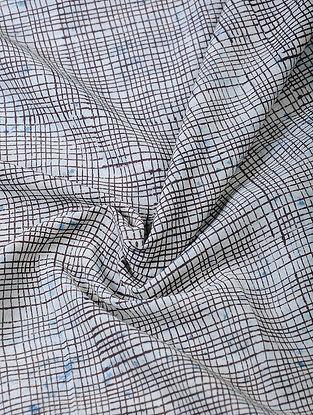 Indigo-Black Dabu-printed Cotton Fabric
