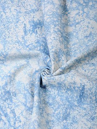 Indigo Dabu-printed Cotton Fabric