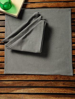 Grey Cotton Slub Napkins (Set of 4) (15in x 15in)