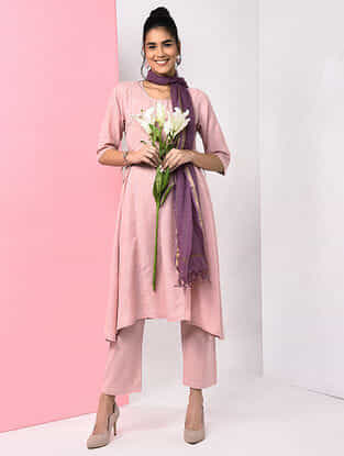 Pink Natural-dyed Handloom Cotton Kurta
