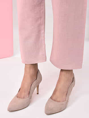 Pink Tie-up Waist Natural-dyed Handloom Cotton Pants