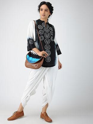 White Elasticated-waist Cotton Dhoti Pants