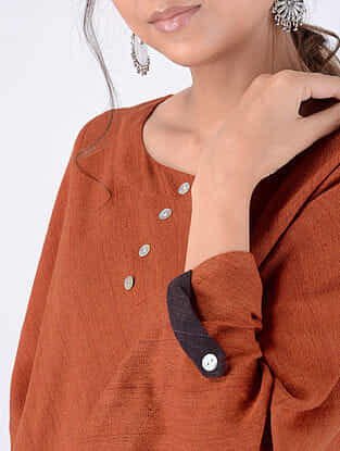 Rust Handloom Cotton Top