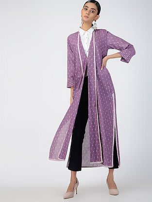 Purple Handloom Ikat Cotton Jacket