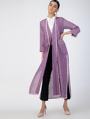 Purple Handloom Ikat Cotton Jacket
