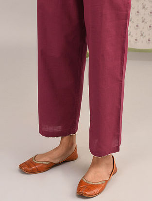 Pink Elasticated Waist Cotton Pants