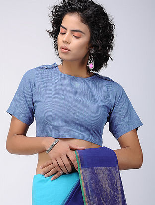 Blue Cotton Blouse