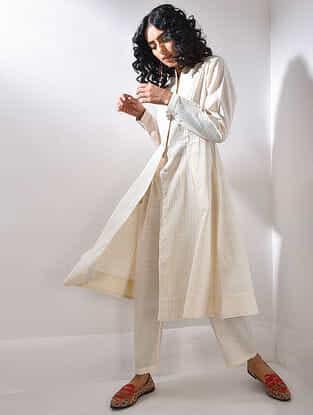 Ivory Handloom Cotton Kurta