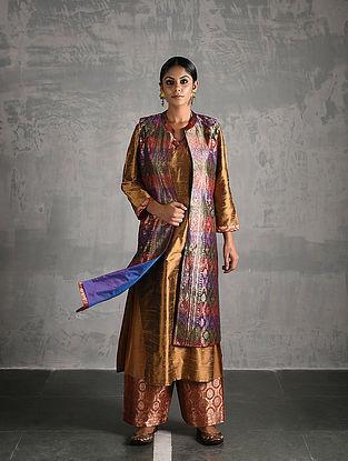 Multicolor Vintage Benarasi Silk Brocade Jacket