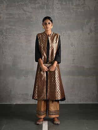 Maroon Vintage Benarasi Silk Brocade Jacket