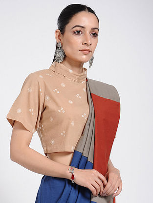 Beige Bandhani Cotton Blouse